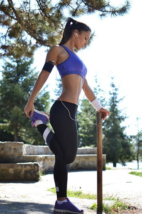 Sexy girl enjoying healthy lifestyle