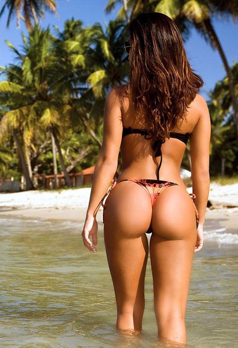 Girl enjoying sex vacation on the beach