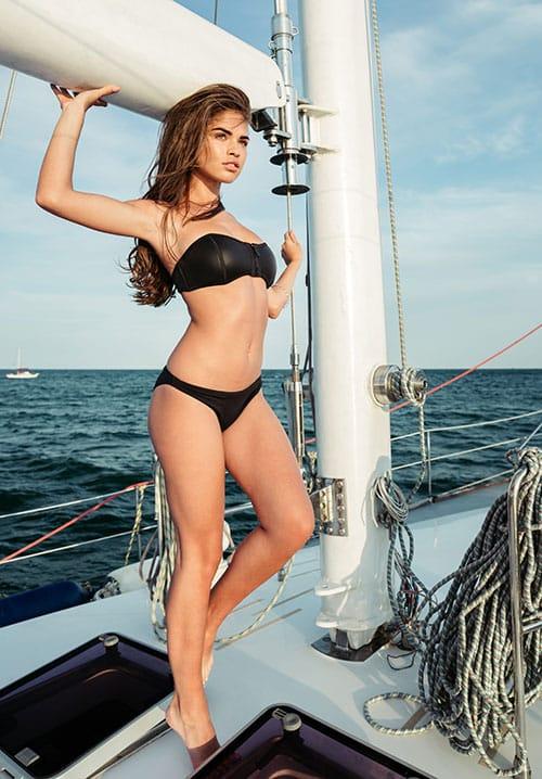 Beautiful VIP companion on boat